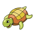Cute turtle cartoon vector image vector image