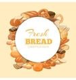 Different kinds bread background vector image