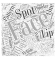 face painting pattern Word Cloud Concept vector image vector image