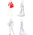 fashion sketches vector image vector image