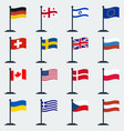 flags of countriesflag stand vector image