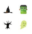 flat icon festival set of phantom monster vector image vector image