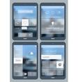 Flat infographics mobile mockups vector image vector image