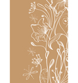 floral ink card vector image vector image