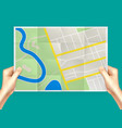 folding city map composition vector image