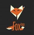 fox logo 9 vector image vector image