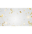 gold confetti isolated on transparent background vector image vector image
