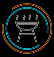 grill icon - barbecue party - picnic symbol vector image