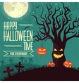 Halloween time background concept in retro style vector image