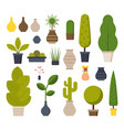 home and office plants set vector image