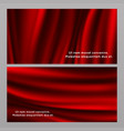 horizontal and vertical red silk fabric banners vector image