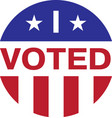 i voted isolated on white background vector image vector image