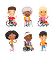 injured people flat characters vector image vector image