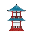 Isolated china tower design vector image vector image