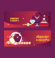 jewelry shop set of banners vector image vector image