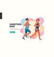 marathon race group vector image vector image