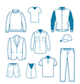 Mens Fashion and Clothing vector image