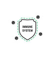 minimal immune system logo vector image vector image