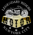 motorcycle logo tee graphic vector image vector image