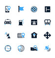 navigations icon set vector image vector image