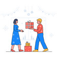 new year celebration - flat design style vector image