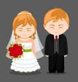 newlywed couple vector image