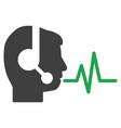 operator speech signal flat icon vector image vector image