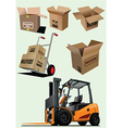 Packaging elements vector image vector image