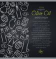 page design olive oil vector image