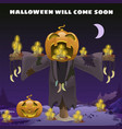 poster in style holiday all evil halloween vector image vector image