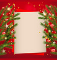 red background tree decor vector image