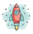 rocket startup launcher icon vector image