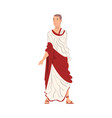roman man in traditional clothes ancient rome vector image vector image