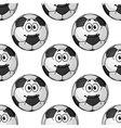 seamless pattern cartoon soccer balls or vector image