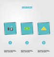 set of banking icons flat style symbols with gold vector image