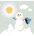 set of characters funny kids winter snow 2015 vector image