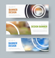 set of white standard banners with round design vector image