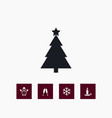set of winter icons simple christmas elements vector image vector image