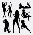 Sexy girl female silhouette vector image vector image