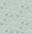 simple soft blue daisy florals tender pastel vector image vector image