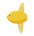 Small yellow fish icon in cartoon style vector image vector image