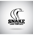 Snake logo template for sport teams vector image