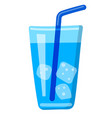 sparkle water glass vector image