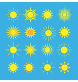 Sun icons set blue vector image vector image