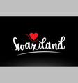 swaziland country text typography logo icon vector image vector image