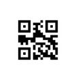 template of qr code for smartphone scanning vector image vector image