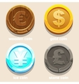 texture coins of different currencies vector image