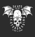 vintage white skateboarding logo vector image vector image