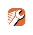 wrench logo repair service symbol vector image