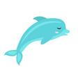 cute dolphin icon flat cartoon style isolated vector image